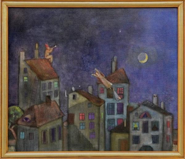 Петър Димов - Среща в полунощ 60x70