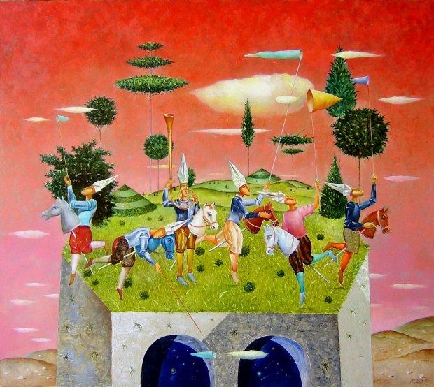 Rossen Krastev -Lovci na oblaci -80x90