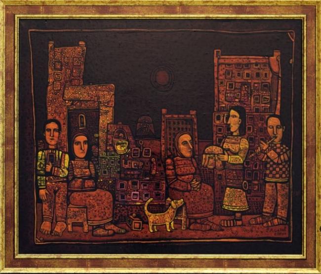 Rumen Malchev - Rodova scena-46x55-2010