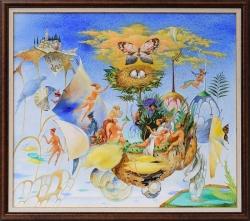 """Росен КРЪСТЕВ - картина """"Ехо от пясъчен сън"""""""