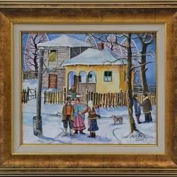 """""""Среща"""" - картина от Димитър Вецин"""