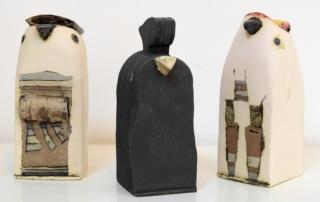 Димитър Николаев - Пилета, керамични скулптури