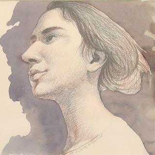 Ivan Stratiev-Portret na momiche-20x30