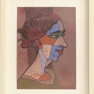 Ivan Stratiev - kubistichen portret-30x20-pastel