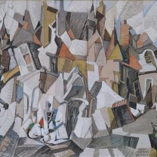 Ivan Stratiev- malak parizhki zamak-biblioteka-37x45-akril