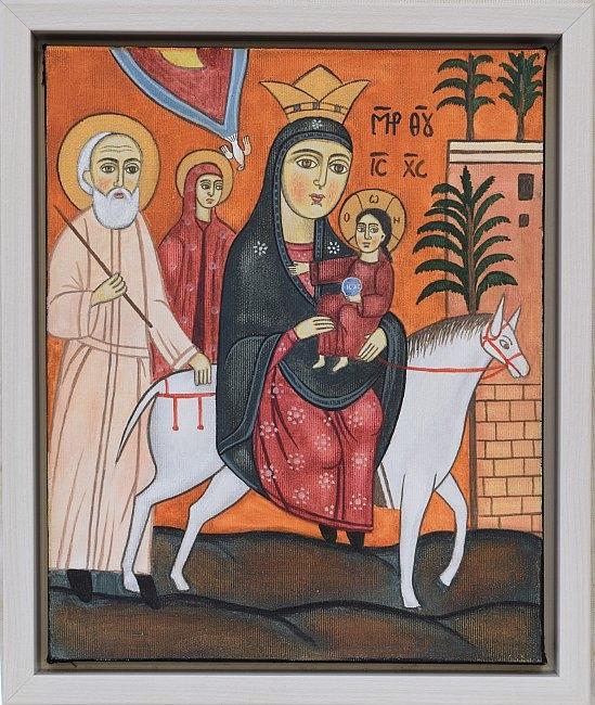 Nenchevi - Biagstvo v Egipet-koptska ikona-34x28