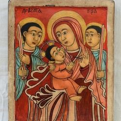 Nenchevi-Bogoroditsa s angeli-24x19-Etiopia-8 vek
