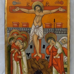 Nenchevi - Razpiatie Hristovo-31x22-koptska ikona