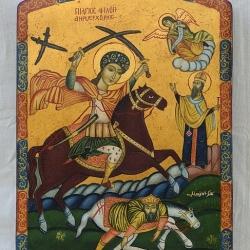 Nenchevi-Sveti Merkuriy-30x22-koptska ikona