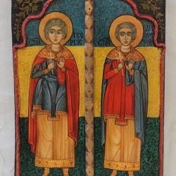 Sveti Georgi i Sveti Dimitar-ikona -33x23-Arbanasi
