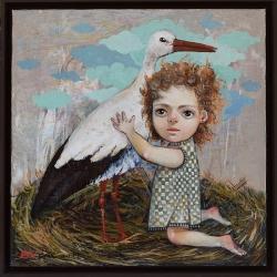 Елисавета Ангелова - На гости при стария щърк- 50x50