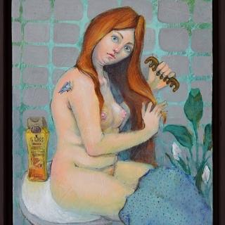 Елисавета Ангелова - Огнена красавица-50x40