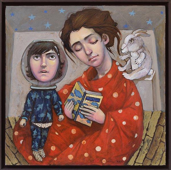 Елисавета Ангелова - Сън в лятна нощ - 60x60