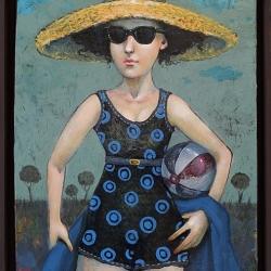 Елисавета Ангелова - Синьо лято-50x40