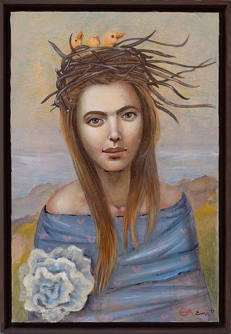 Елисавета Ангелова - Женски воден дух - 60x40