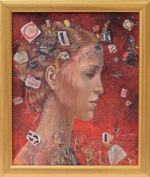 Даниела Зекина -Калиопа в червено 30x25