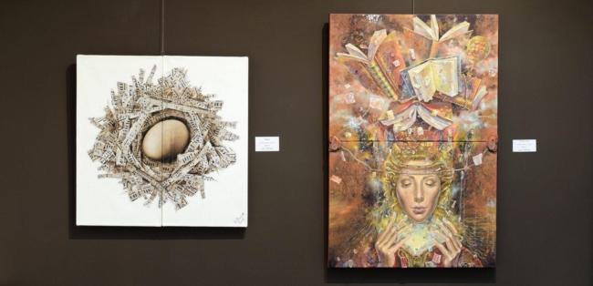 Daniela Zekina i Peter Boyadjieff- izlozhba 2017 Paris Gallery