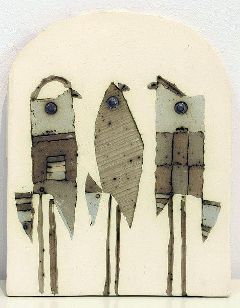 Dimitar Nikolaev - three birds-ceramics-20x16