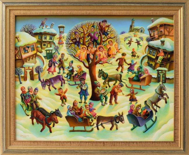 Aneta Yalamova - Zimen praznik - 40x50, 2017
