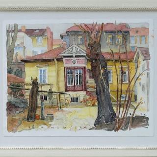 Sevda Poturlyan - Stara sofiyska kashta-akvarel- 38x50-2016