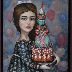 Елисавета Ангелова - Рожден ден- 50x40 см., 2017