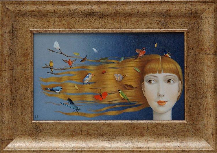 Марина Богданова - Вятърът на усмивките, 18x30 см., 2013 г.