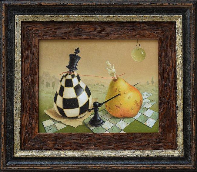 Marina Bogdanova- Chess game-16x20cm-2016