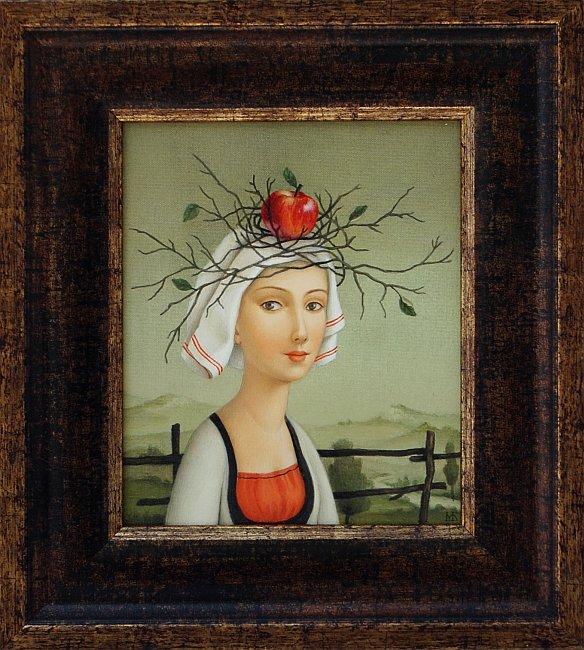 Марина Богданова - Момиче с ябълка -19x16-2014