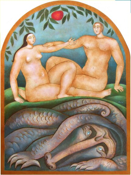 Julia Stankova - Adam Eve-40x30
