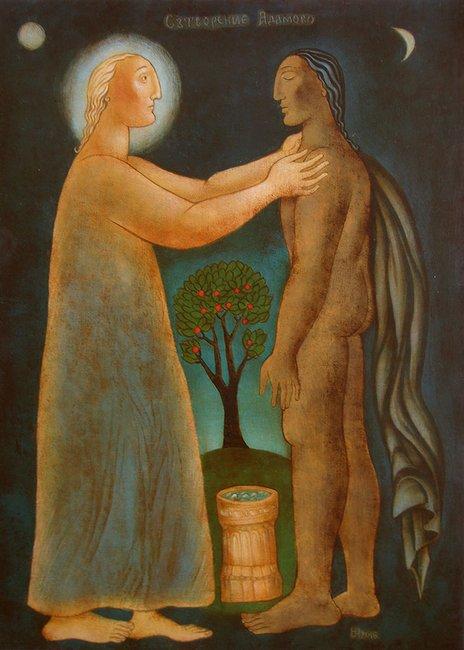 Julia Stankova - Creation of Adam 36x26- 2016