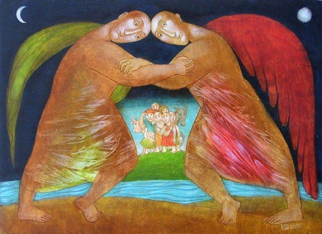 Julia Stankova - Jacob's Fight 26x36 2012