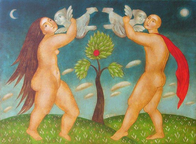 Julia Stankova - People and angels 26x36 2012