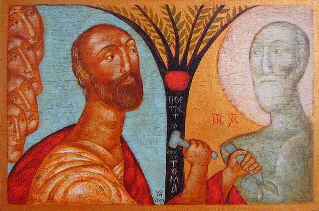 """Юлия Станкова - """"Портрет на апостол Тома"""", 2004 г."""