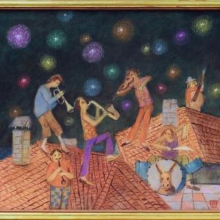 Peter Dimov - Muzikanti na pokrivite-50x60