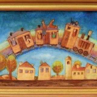 Peter Dimov - Vlakche po dagata-40x60