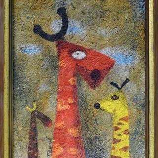 Peter Dimov - Zhirafi 50x40-2001