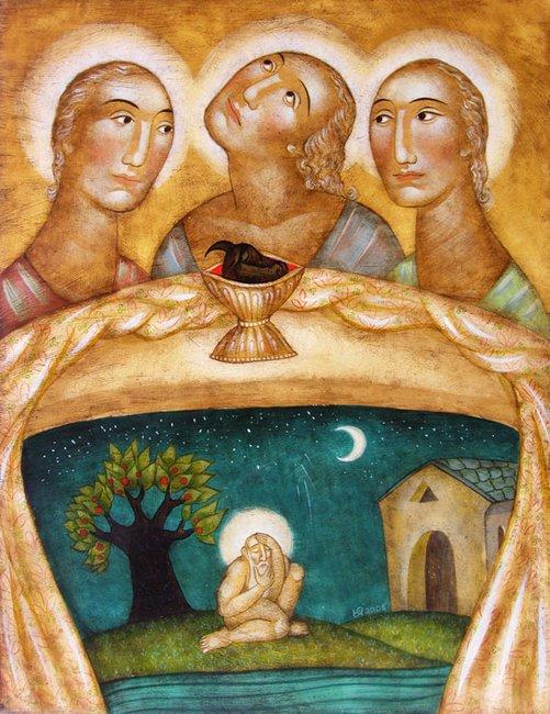 Yulia Stankova - Gostite na Avraam 35x45 - 2008