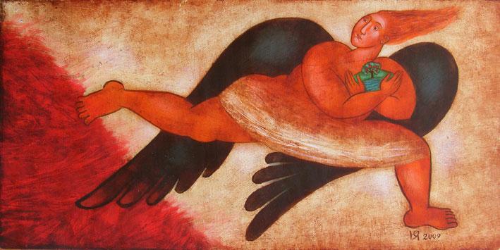 "Юлия Станкова - ""Парче земя"", 20/40 см. 2009 г."