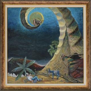 Димитър Вецин - Сънят на козаря - 71x71-1996