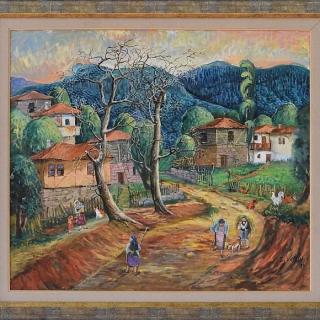 Димитър Вецин - Селски мотив - 65x75 -2009