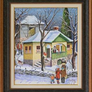 Димитър Вецин - Семейна среща- 46x38