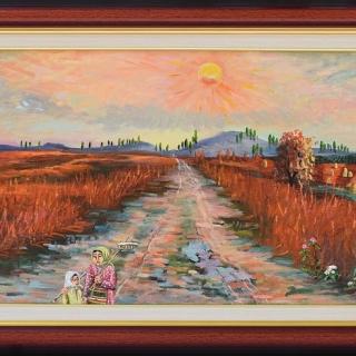 Димитър Вецин - Слънце след буря- 35x70- 2008