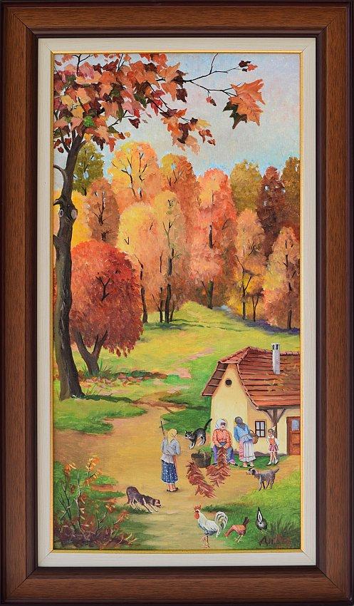 Димитър Вецин - Златна есен - 70x35