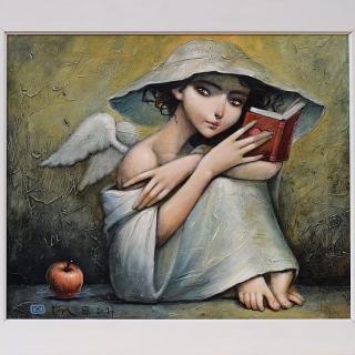 Angelski istorii - kartina ot Nikolay Angelov- Gary 50x60