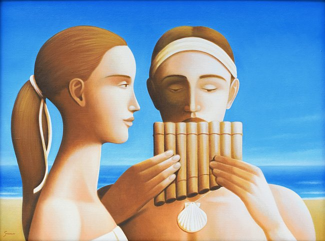 Stefan Sakalov - Momiche i momche sas siringа-45x60