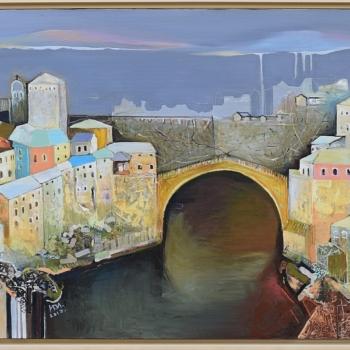 """Ивелина ИВАНОВА - """"Паметта на Босна-Мостар"""", 70/100 см."""