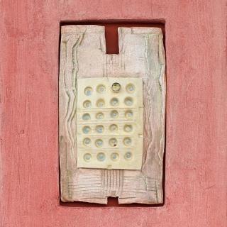 Dimitar Minkov - Abstraktno keramichno pano 1- 35x27cm