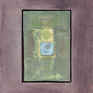 Dimitar Minkov - Abstraktno keramichno pano 2- 35x27cm