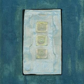 Dimitar Minkov - Abstraktno keramichno pano 3- 35x27cm