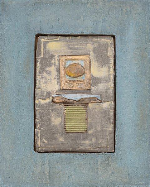 Dimitar Minkov - Abstraktno keramichno pano 4- 35x27cm
